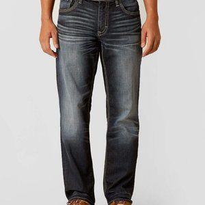 NEW BKE Ryan Straight Stretch Dark Wash Jeans in Bontz   Buckle 31R 31x32.5